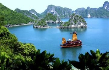 Halong Bay on Imperial Junk Boat