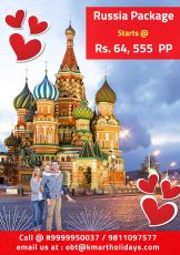 RUSSIA FIXED DEPARTURE @ 69 k includes Flight,Package,Sights