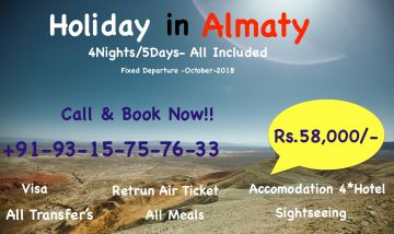 HOLIDAY IN ALMATY 4N/5 DAYS