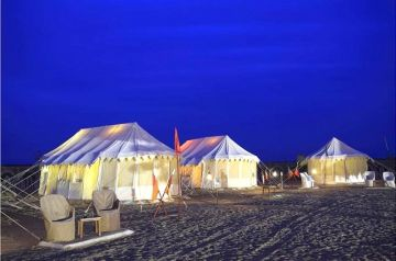 Camping in The Arid Desert of Rajasthan