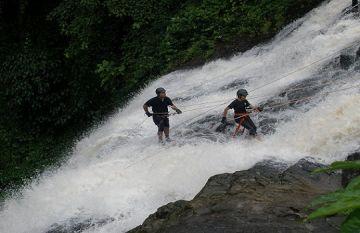VOCIFEROUS VIHIGAON WATERFALL RAPPELLING IN VIHIGAON FALLS