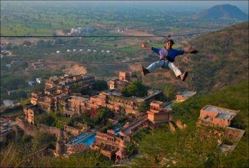 FLYING FOX ADVENTURE IN NEEMRANA FORT