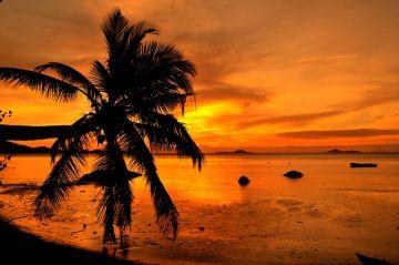 Stunning Sunset in Seychelles
