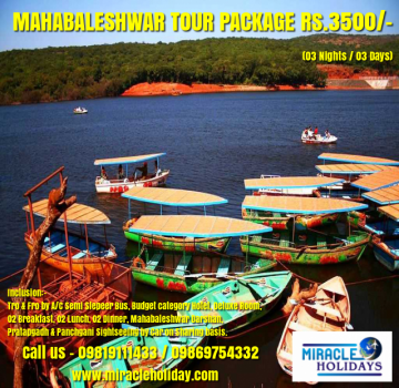 Mahabaleshwar tour package 04 Days