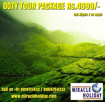Bangalore Mysore & Ooty Tour Package 06 Days