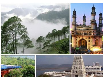 6N7D TOUR PACKAGE TO VIZAG, ARAKU, CHITRAKOOT and HYDERABA