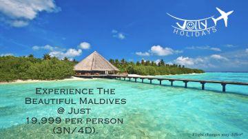 Maldives honeymoon Package rs.16500 From Bangalore or Chennai  - Jolly Holidays