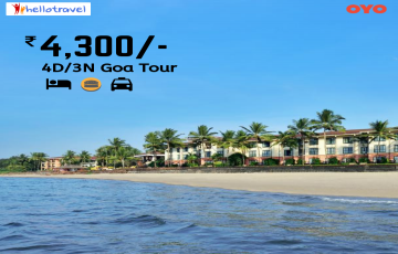 North Goa Deal for 4 days @ INR 4300 with hotels & sightseeing