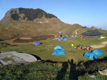 Camping and Trekking at Parashar Lake Himachal Pradesh