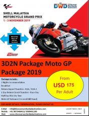 3D2N Shell Malaysia Moto GP Package 2019