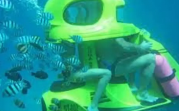 Under The Sea Scooter Ride In Maldives