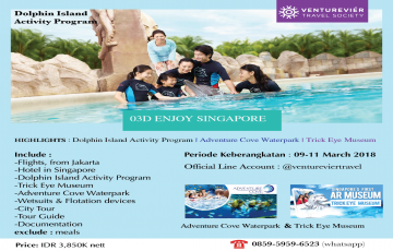 3D2N AMAZING SINGAPORE ALL IN BY VENTUREVIERTRAVEL