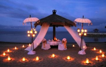 Heavenly Kerala 3 Honeymoon Flowerbed Candle Light